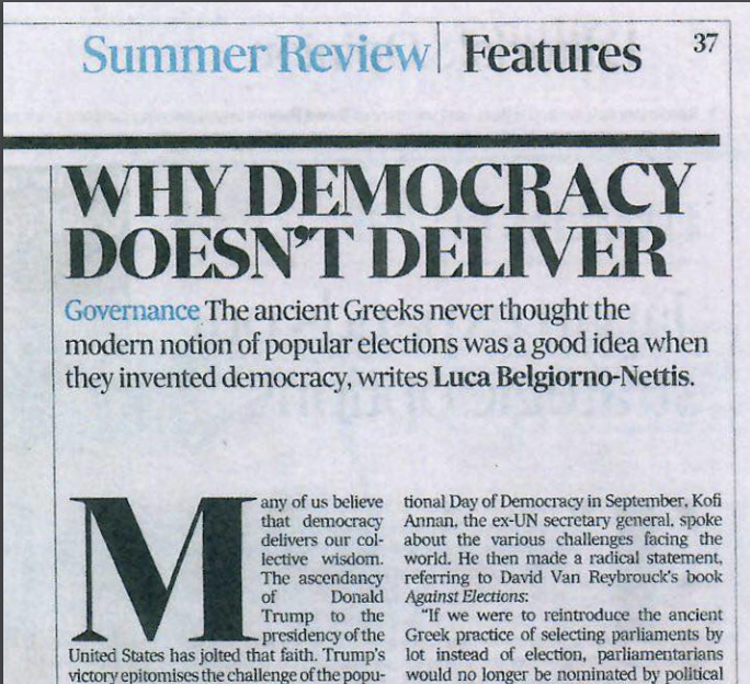 Why Democracy Doesn't Deliver